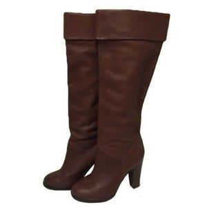 ☆ Colin Stuart☆ Knee High Fold Over Leather Boots